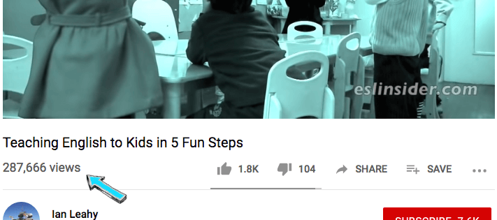 ESLinsider's Youtube views for popular video