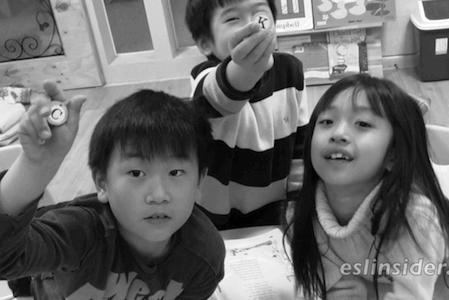 kindergarten kids in Korea